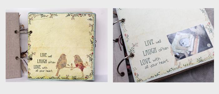 Cách dán hình (scrapbook Live Laugh Love) 1
