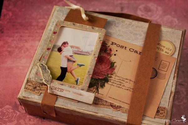 Box Album từ giấy làm Scrapbook