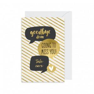 Thiệp tạm biệt